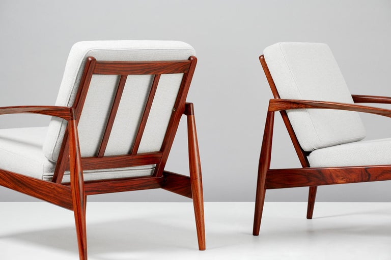 Danish Kai Kristiansen Paper Knife Lounge Chairs For Sale