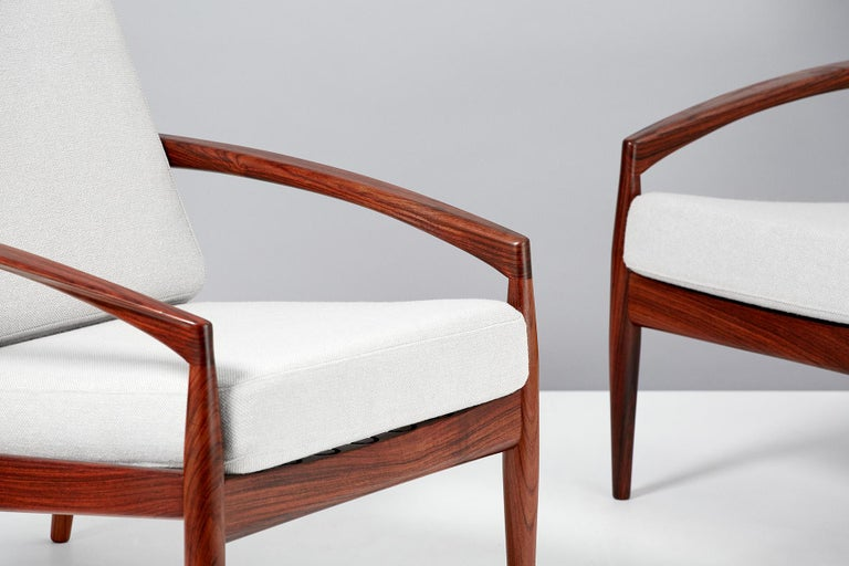 Wool Kai Kristiansen Paper Knife Lounge Chairs For Sale