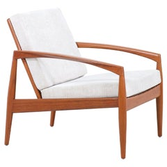"Kai Kristiansen ""Paper Knife"" Teak Lounge Chair for Magnus Olesen"