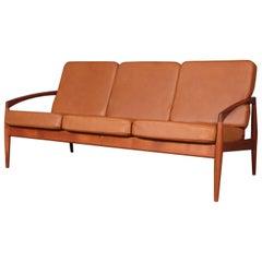 Kai Kristiansen Paperknife Three-Seat Sofa, Teak