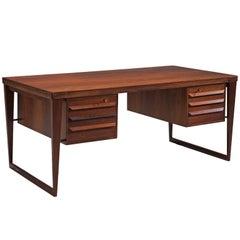 Kai Kristiansen Restored Executive Desk in Rosewood