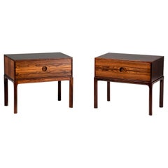 Kai Kristiansen Rosewood Bedside Cabinets, 1960s