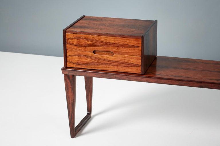 Scandinavian Modern Kai Kristiansen Rosewood Bench and Drawers Set, circa 1960 For Sale