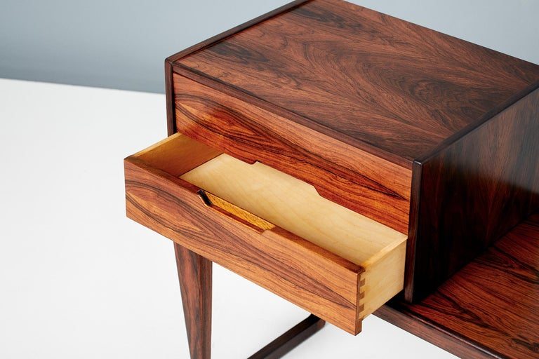Danish Kai Kristiansen Rosewood Bench and Drawers Set, circa 1960 For Sale