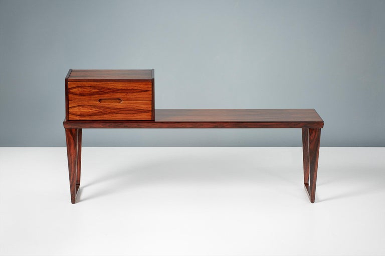 Kai Kristiansen Rosewood Bench and Drawers Set, circa 1960 In Excellent Condition For Sale In London, GB