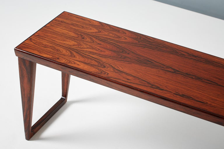 Kai Kristiansen Rosewood Bench and Drawers Set, circa 1960 For Sale 1