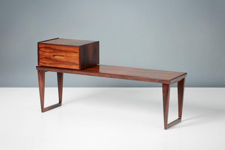 Kai Kristiansen Rosewood Bench and Drawers Set, circa 1960 For Sale 2