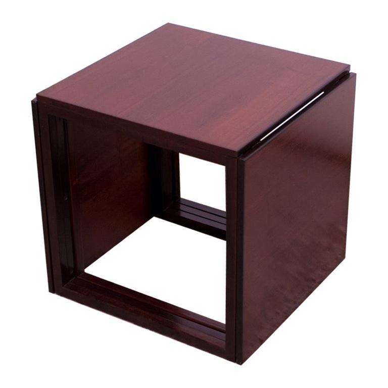 "Kai Kristiansen Rosewood ""Cube"" of Three Interlocking Nesting Tables"
