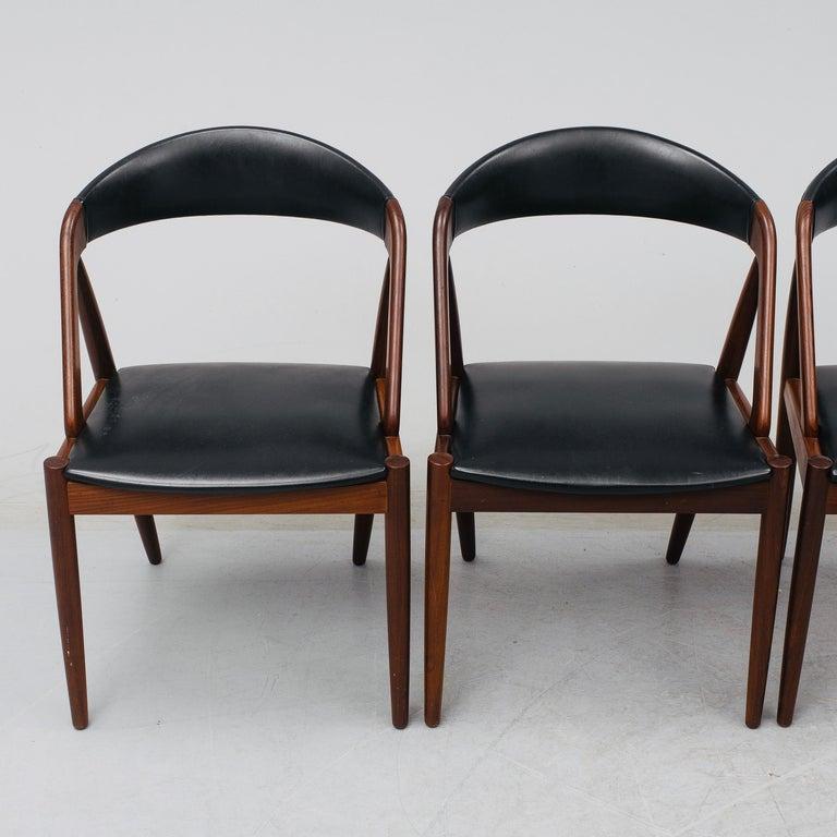 Danish Kai Kristiansen Mahogany Dining Chairs Model 31, Denmark, 1960 For Sale