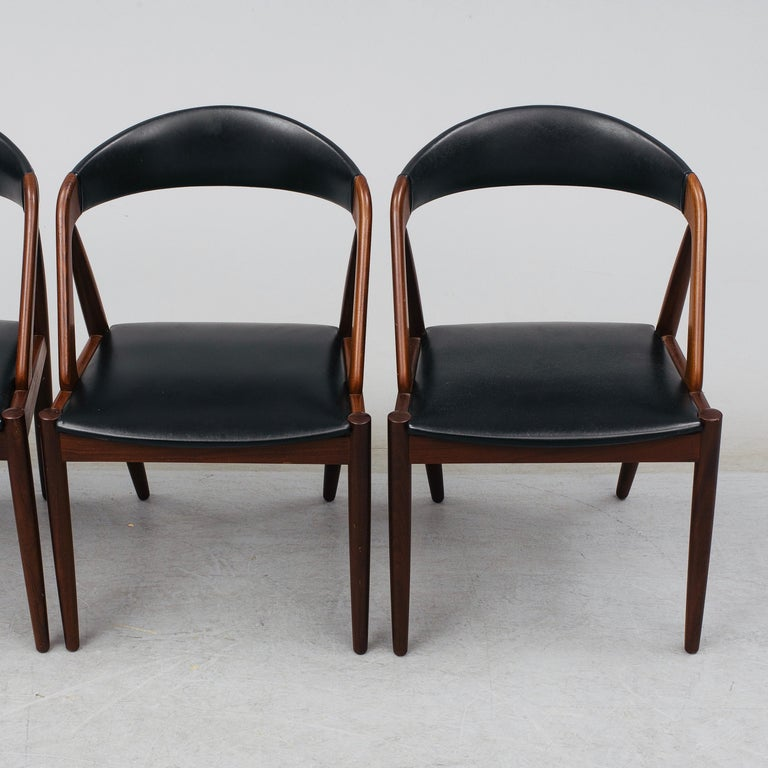 Kai Kristiansen Mahogany Dining Chairs Model 31, Denmark, 1960 In Good Condition For Sale In Madrid, ES