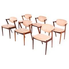 Kai Kristiansen Rosewood Model 42 Dining Chairs