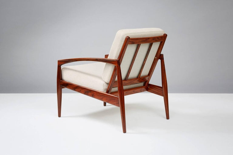 Scandinavian Modern Kai Kristiansen Rosewood Paper Knife Lounge Chair For Sale