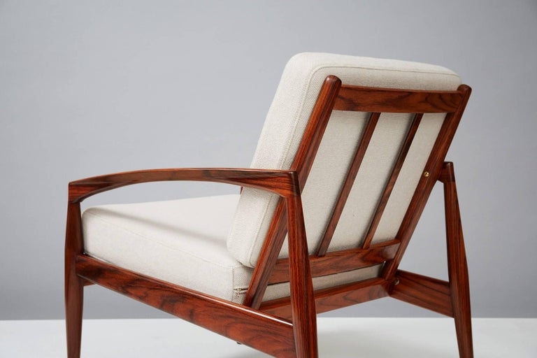 Danish Kai Kristiansen Rosewood Paper Knife Lounge Chair For Sale