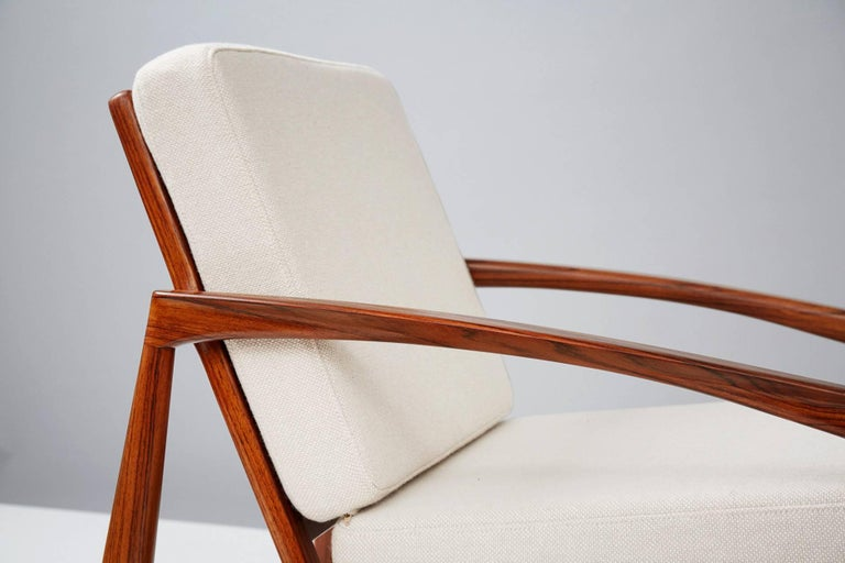 Kai Kristiansen Rosewood Paper Knife Lounge Chair In Excellent Condition For Sale In London, GB