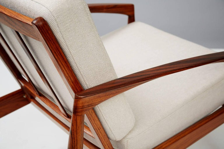 Mid-20th Century Kai Kristiansen Rosewood Paper Knife Lounge Chair For Sale