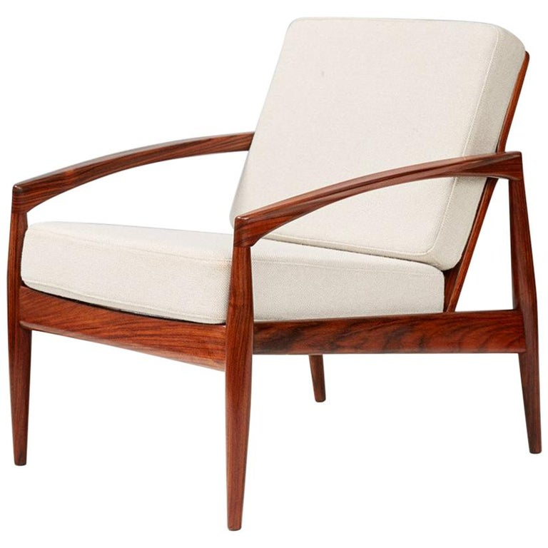 Kai Kristiansen Rosewood Paper Knife Lounge Chair For Sale