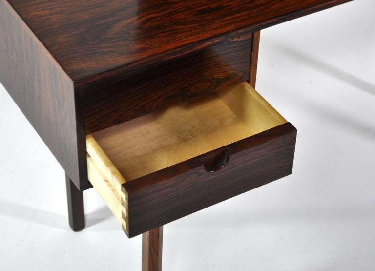Kai Kristiansen Rosewood Vanity Table with Mirrors by Aksel Kjersgaard, 1960s For Sale 5