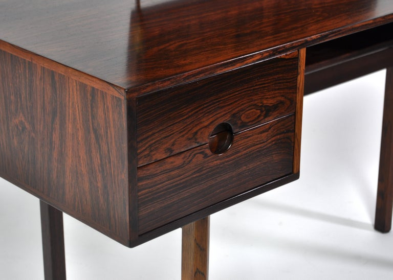 Kai Kristiansen Rosewood Vanity Table with Mirrors by Aksel Kjersgaard, 1960s For Sale 6