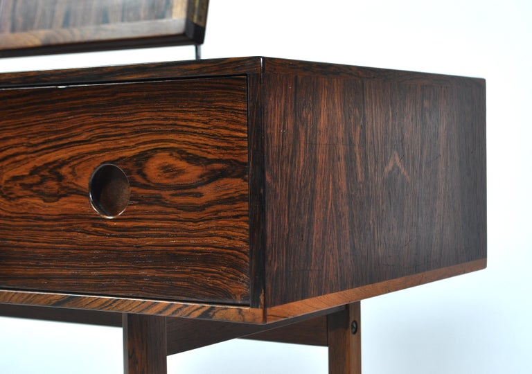Kai Kristiansen Rosewood Vanity Table with Mirrors by Aksel Kjersgaard, 1960s For Sale 7