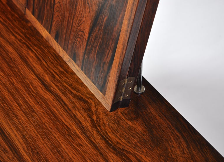 Kai Kristiansen Rosewood Vanity Table with Mirrors by Aksel Kjersgaard, 1960s For Sale 2