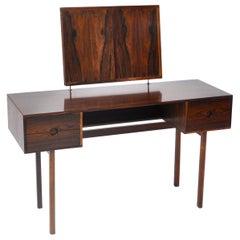 Kai Kristiansen Rosewood Vanity Table with Mirrors by Aksel Kjersgaard, 1960s