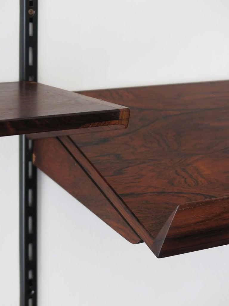 Kai Kristiansen Scandinavian Dark Wood Shelves System for FM Møbler, 1960s 3