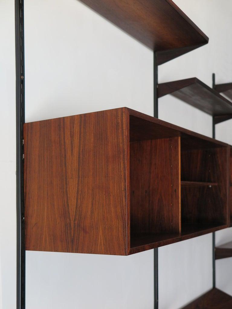 Kai Kristiansen Scandinavian Dark Wood Shelves System for FM Møbler, 1960s 4