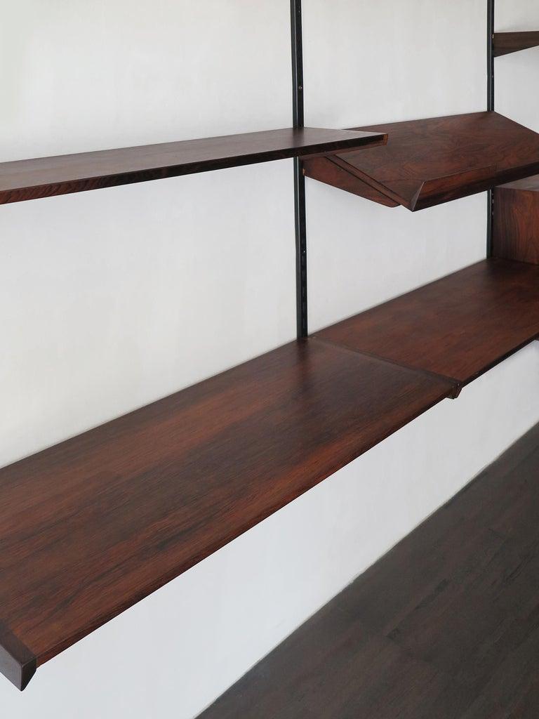 Kai Kristiansen Scandinavian Dark Wood Shelves System for FM Møbler, 1960s 5