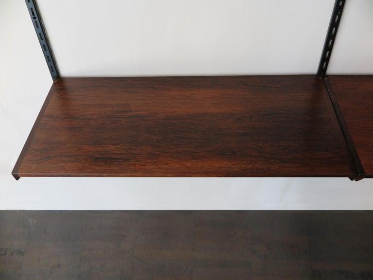 Kai Kristiansen Scandinavian Dark Wood Shelves System for FM Møbler, 1960s 6