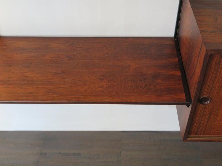 Kai Kristiansen Scandinavian Dark Wood Shelves System for FM Møbler, 1960s 7
