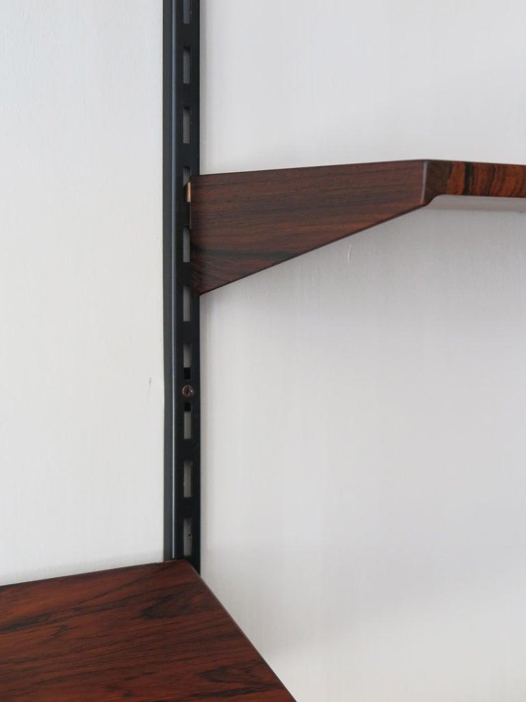 Kai Kristiansen Scandinavian Dark Wood Shelves System for FM Møbler, 1960s 8