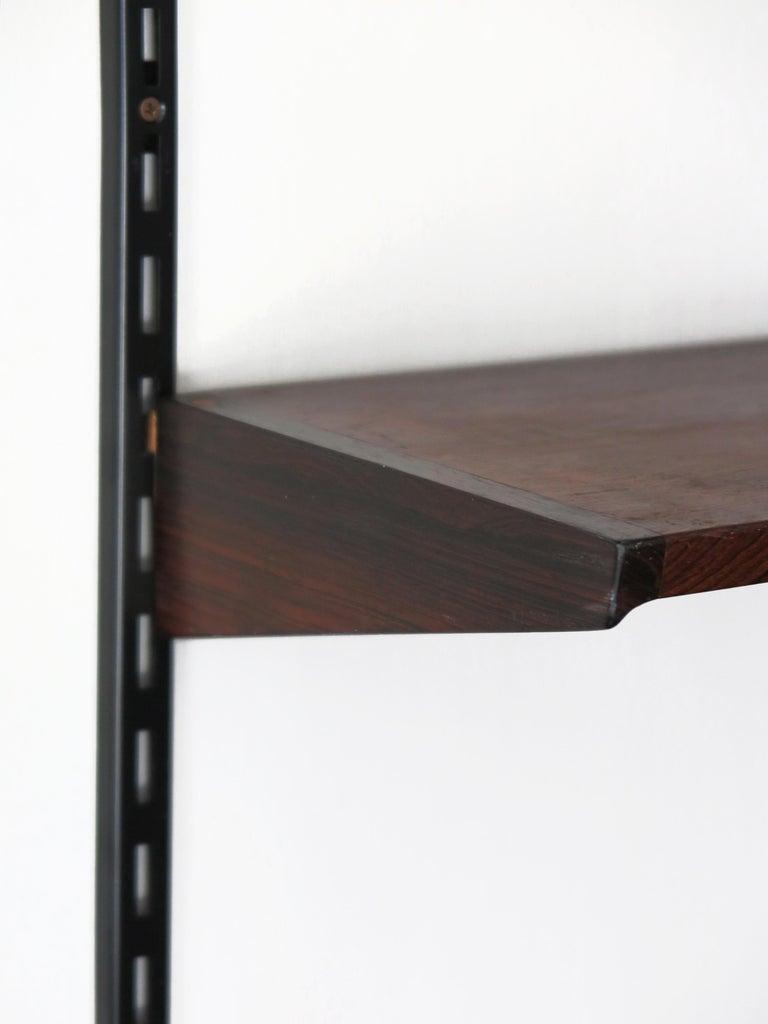 Kai Kristiansen Scandinavian Dark Wood Shelves System for FM Møbler, 1960s 10