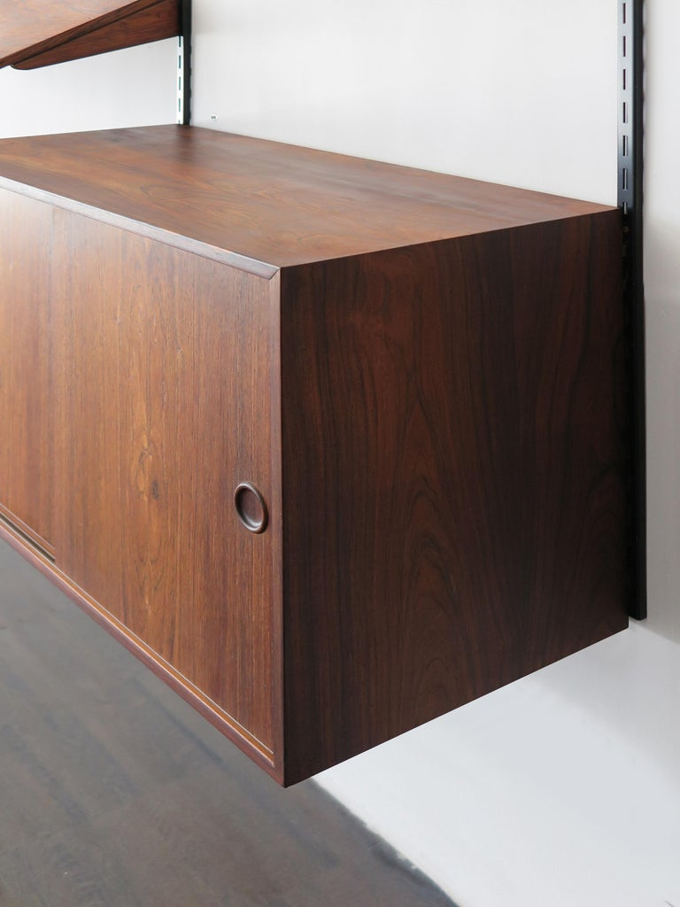 Kai Kristiansen Scandinavian Dark Wood Shelves System for FM Møbler, 1960s 11