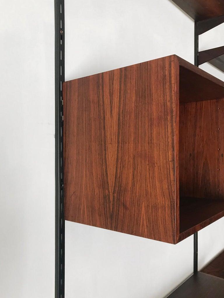 Kai Kristiansen Scandinavian Dark Wood Shelves System for FM Møbler, 1960s 12