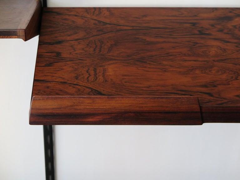 Metal Kai Kristiansen Scandinavian Dark Wood Shelves System for FM Møbler, 1960s