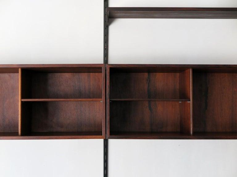 Kai Kristiansen Scandinavian Dark Wood Shelves System for FM Møbler, 1960s 2