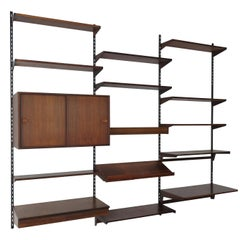 Kai Kristiansen Scandinavian Dark Wood Shelves System for FM Møbler, 1960s