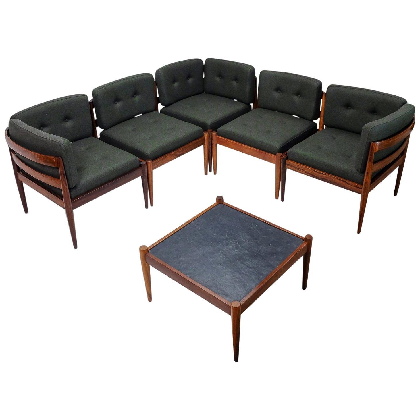 Danish Design Kai Kristiansen Seating Group Model Universe, 1960s