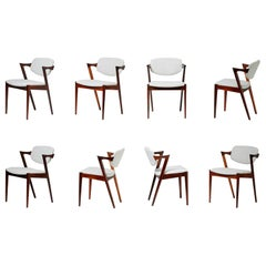 Kai Kristiansen Set of 8 Model 42 Dining Chairs, Rosewood