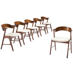 Kai Kristiansen Set of Six Rosewood Dining Chairs