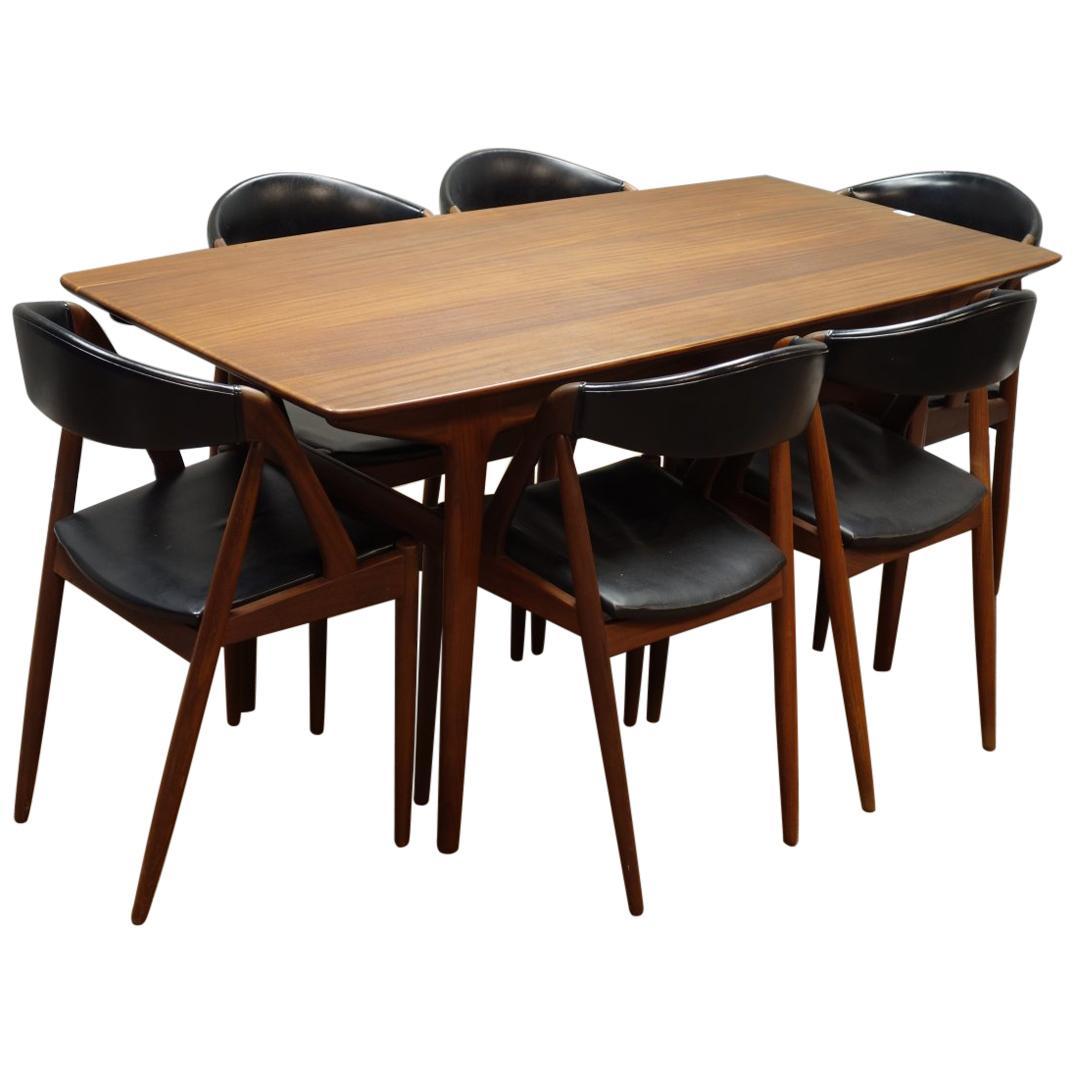 Kai Kristiansen, Set of Six Teak, Model 31 Dining Chairs & Matching Dining Table