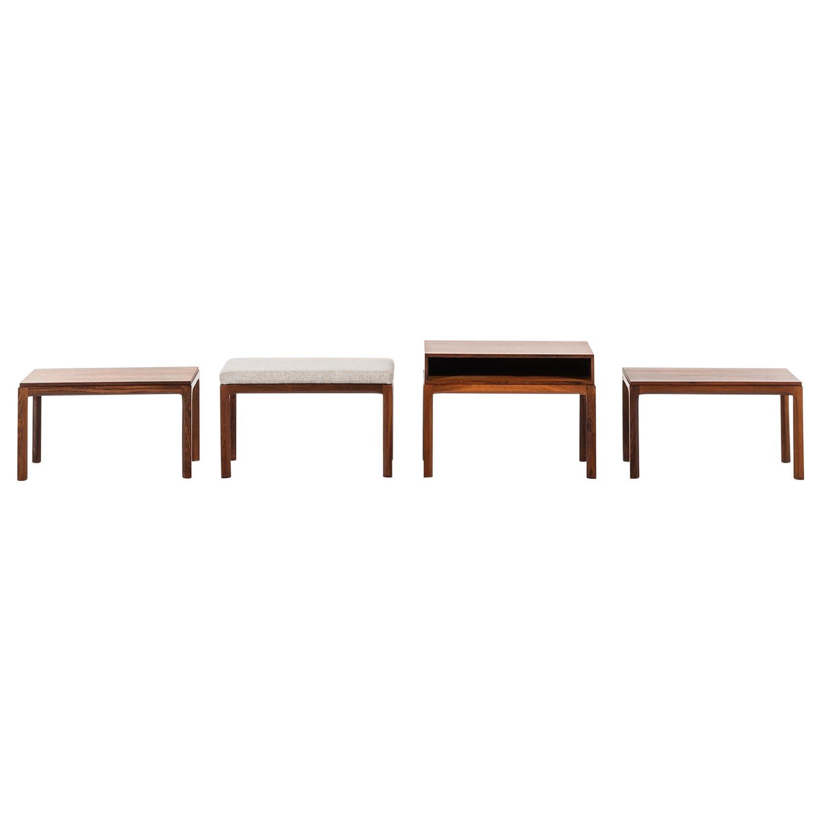 Kai Kristiansen Side Tables Produced by Aksel Kjersgaard in Denmark
