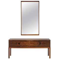 Kai Kristiansen Sideboard and Mirror for Aksel Kjersgaard, Denmark, 1960s