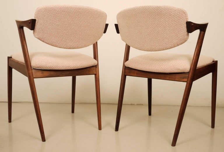 Kai Kristiansen Six Rosewood Dining Chairs Model 42 In Excellent Condition For Sale In Madrid, ES