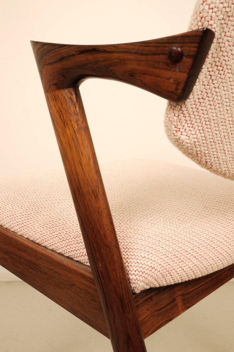 Kai Kristiansen Six Rosewood Dining Chairs Model 42 For Sale 1