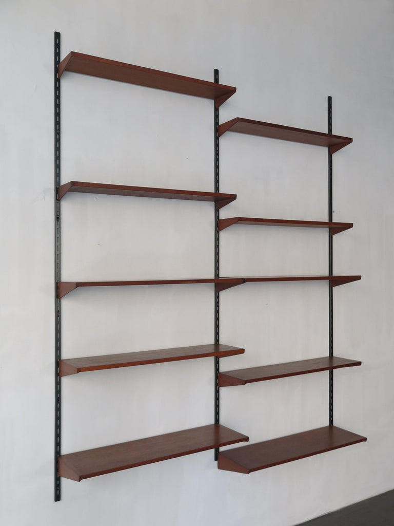 Scandinavian Modern Kai Kristiansen Teak Scandinavian Shelves System for FM Møbler, 1960s For Sale