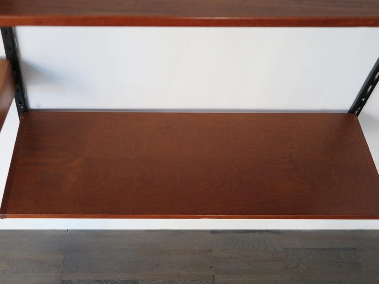 Danish Kai Kristiansen Teak Scandinavian Shelves System for FM Møbler, 1960s For Sale