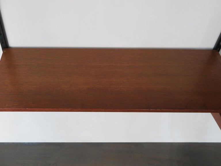 Kai Kristiansen Teak Scandinavian Shelves System for FM Møbler, 1960s In Good Condition For Sale In Modena, IT