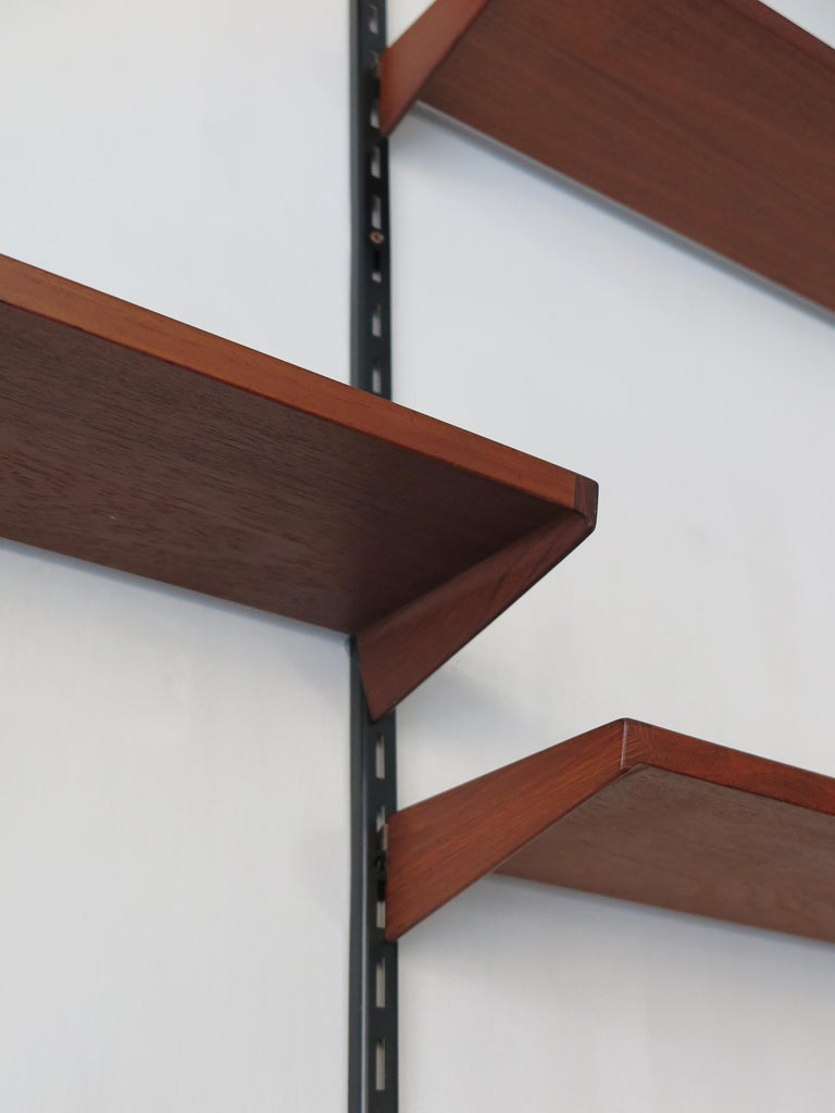Mid-20th Century Kai Kristiansen Teak Scandinavian Shelves System for FM Møbler, 1960s For Sale