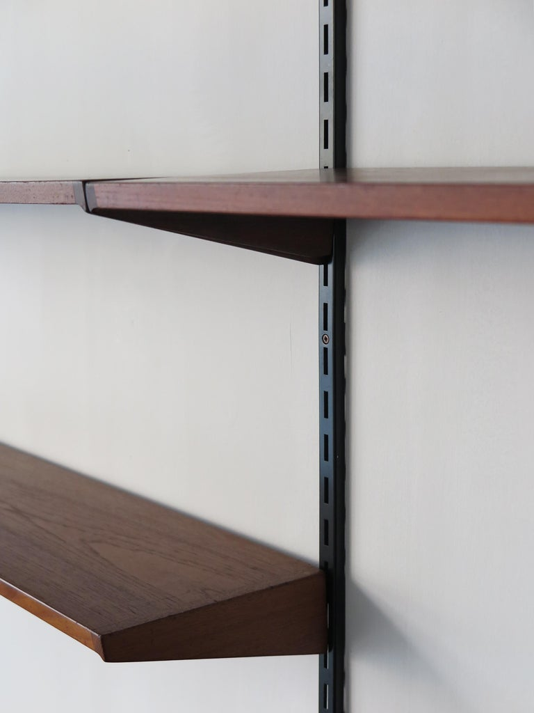 Metal Kai Kristiansen Teak Scandinavian Shelves System for FM Møbler, 1960s For Sale